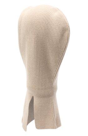 Детского кашемировая шапка-балаклава BRUNELLO CUCINELLI бежевого цвета, арт. B22M90004C | Фото 2