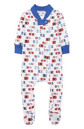 Детский хлопковый комбинезон MAGNOLIA BABY голубого цвета, арт. 979-428P-LB | Фото 1