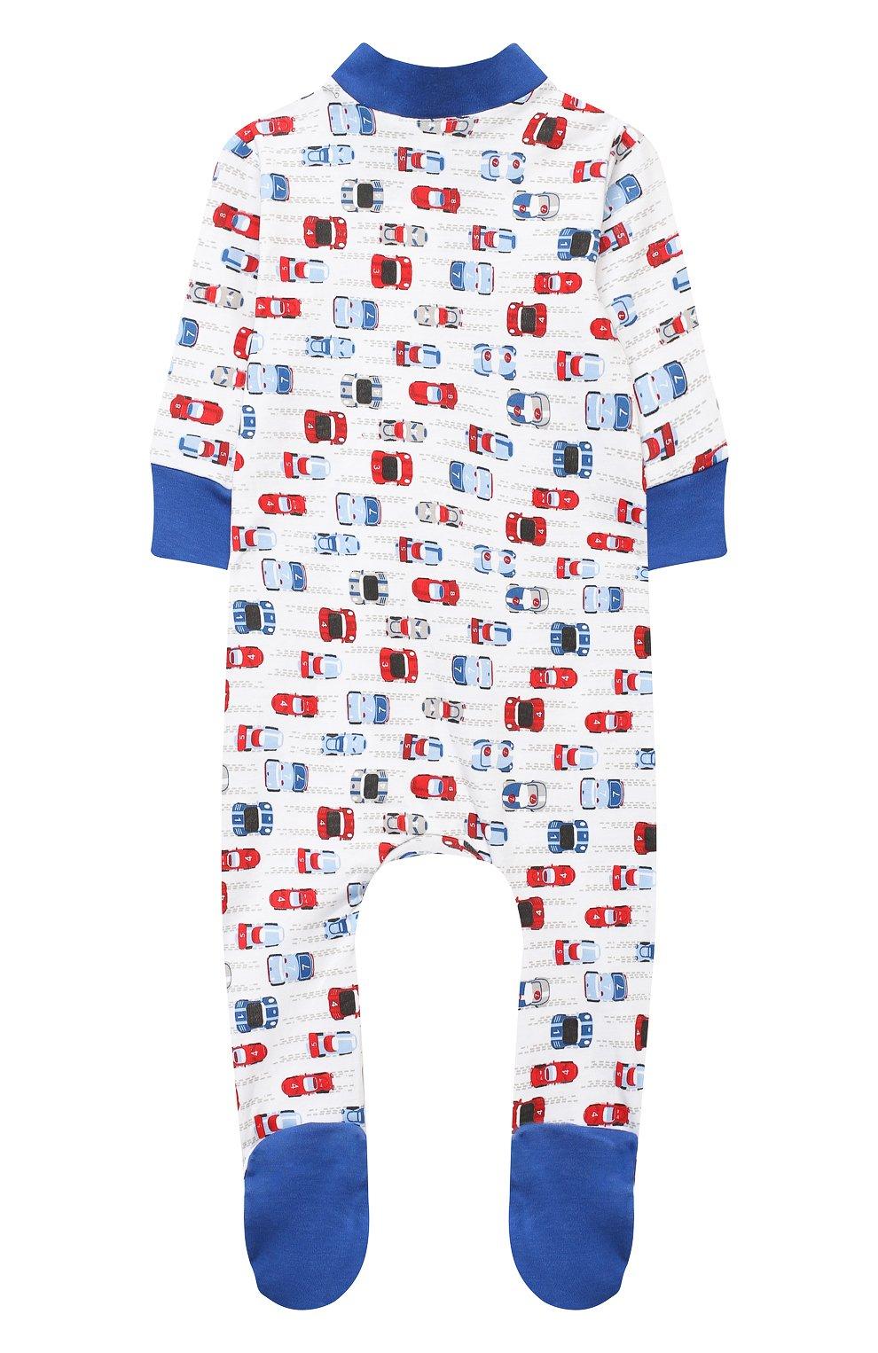 Детский хлопковый комбинезон MAGNOLIA BABY голубого цвета, арт. 979-428P-LB | Фото 2