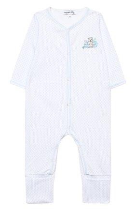 Детский хлопковый комбинезон MAGNOLIA BABY голубого цвета, арт. 562-805-LB | Фото 1