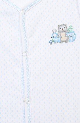 Детский хлопковый комбинезон MAGNOLIA BABY голубого цвета, арт. 562-805-LB | Фото 3