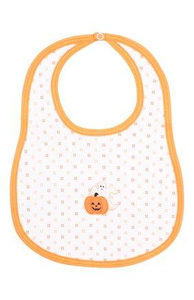 Детский хлопковый нагрудник MAGNOLIA BABY оранжевого цвета, арт. 835-51-OR | Фото 1