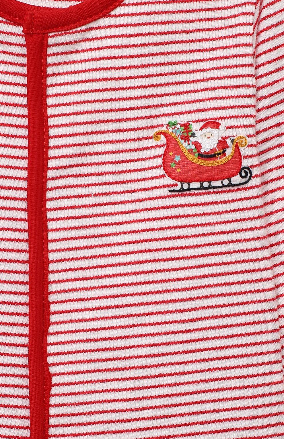 Детский хлопковый комбинезон MAGNOLIA BABY красного цвета, арт. 969-402-RD | Фото 3