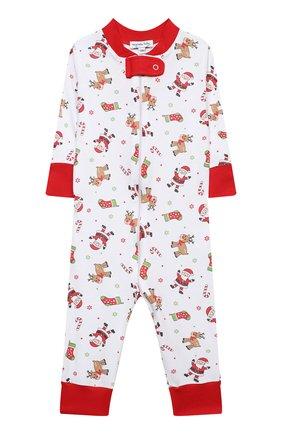Детский хлопковый комбинезон MAGNOLIA BABY красного цвета, арт. 969-ZP-RD | Фото 1