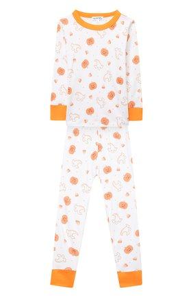 Детский хлопковая пижама MAGNOLIA BABY оранжевого цвета, арт. 835-LP-OR | Фото 1
