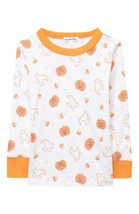 Детский хлопковая пижама MAGNOLIA BABY оранжевого цвета, арт. 835-LP-OR | Фото 2
