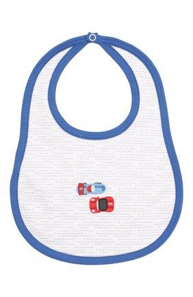 Детский хлопковый нагрудник MAGNOLIA BABY голубого цвета, арт. 979-51-LB | Фото 1