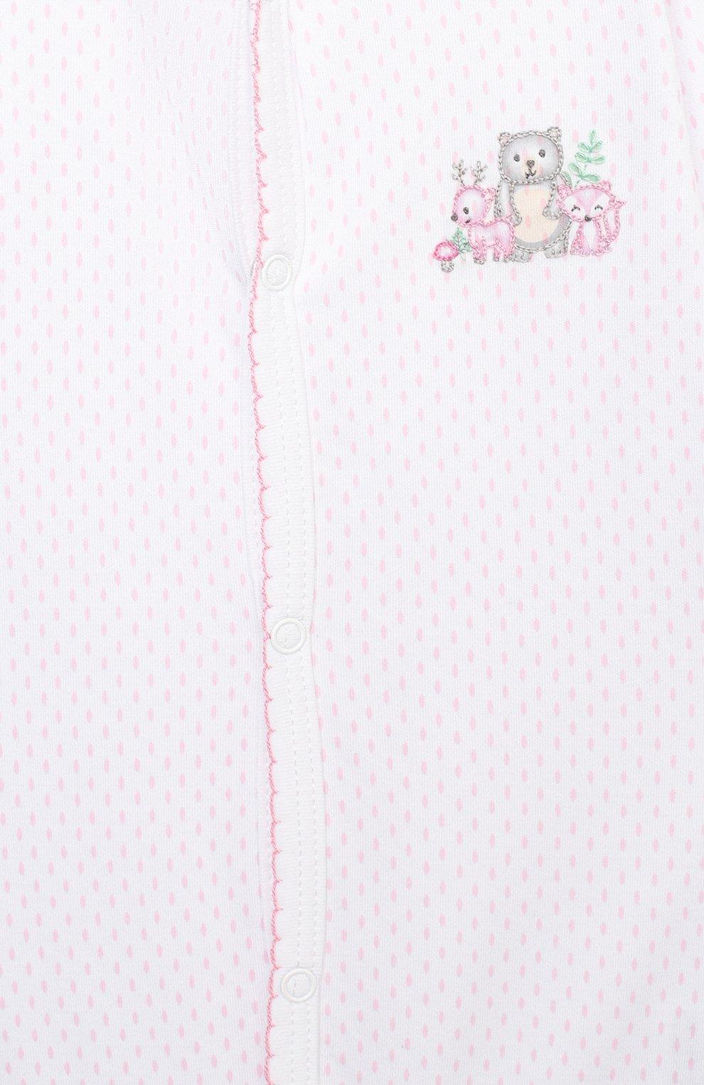 Детский хлопковый комбинезон MAGNOLIA BABY розового цвета, арт. 562-805-PK | Фото 3