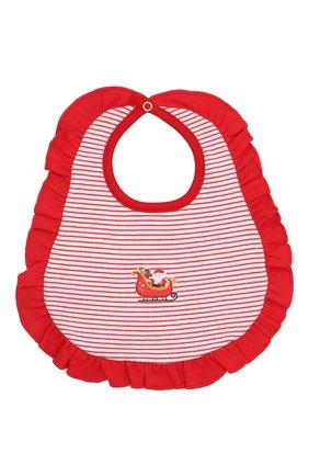 Детский хлопковый нагрудник MAGNOLIA BABY красного цвета, арт. 969-61-RD | Фото 1