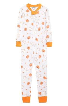Детский хлопковый комбинезон MAGNOLIA BABY оранжевого цвета, арт. 835-ZP-OR | Фото 1