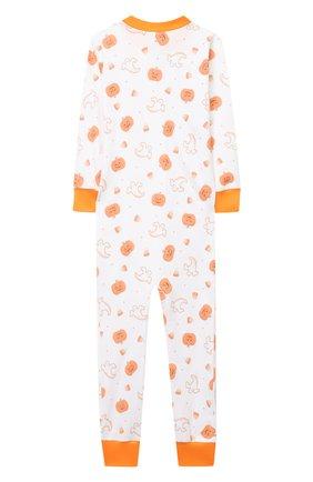 Детский хлопковый комбинезон MAGNOLIA BABY оранжевого цвета, арт. 835-ZP-OR | Фото 2