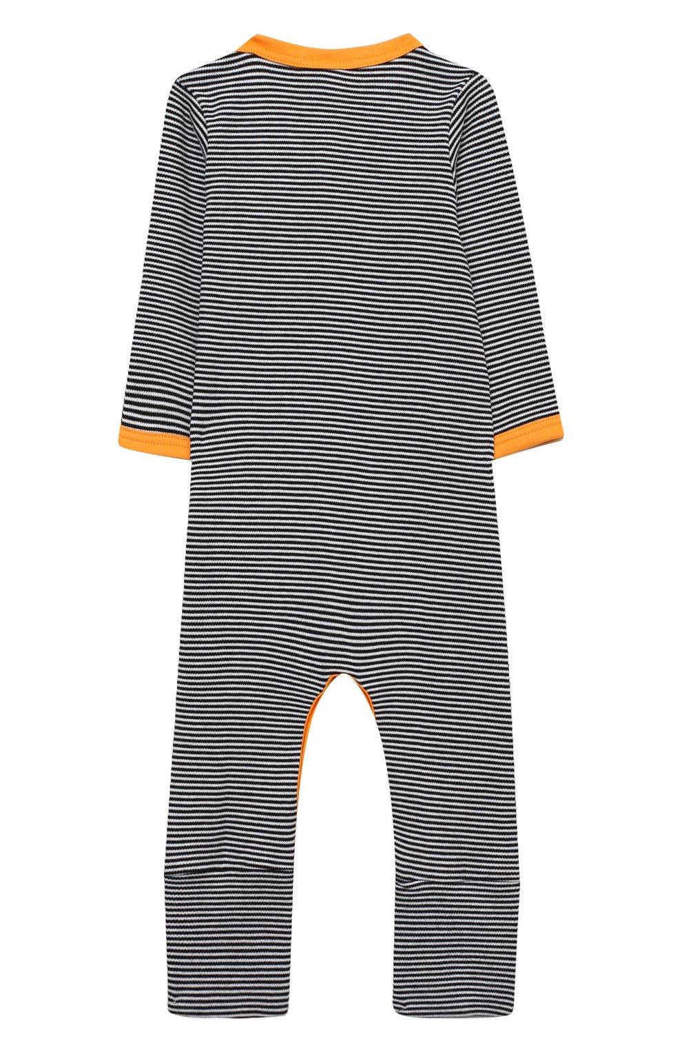 Детский хлопковый комбинезон MAGNOLIA BABY темно-синего цвета, арт. 835A-805-NV   Фото 2