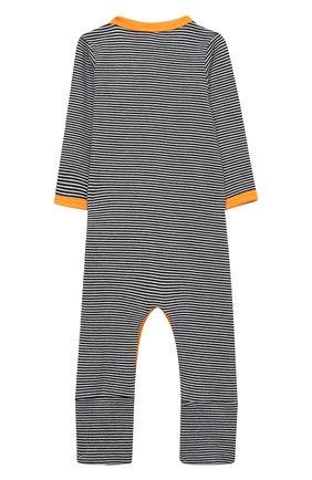 Детский хлопковый комбинезон MAGNOLIA BABY темно-синего цвета, арт. 835A-805-NV | Фото 2