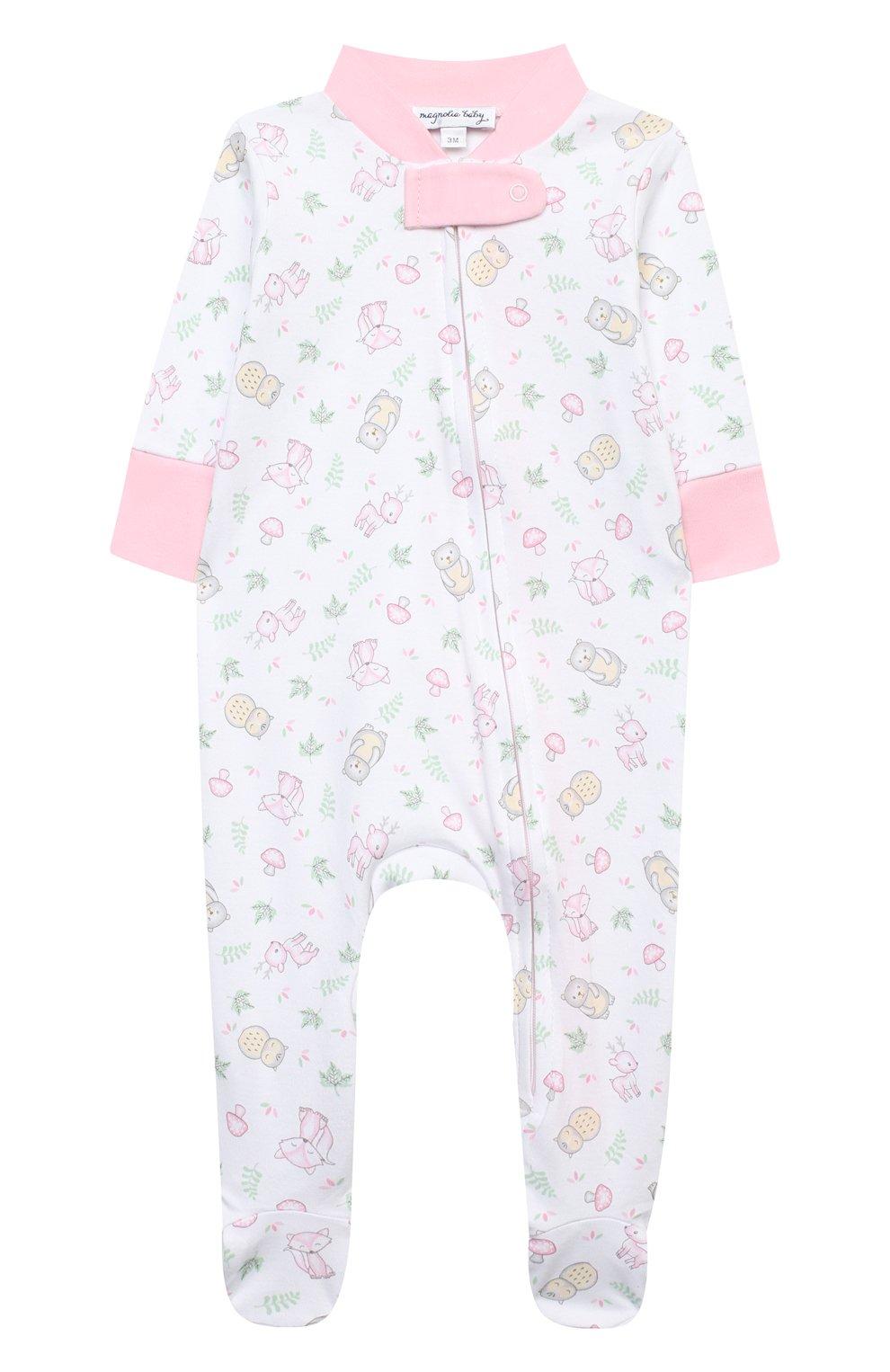 Детский хлопковый комбинезон MAGNOLIA BABY розового цвета, арт. 562-428P-PK | Фото 1