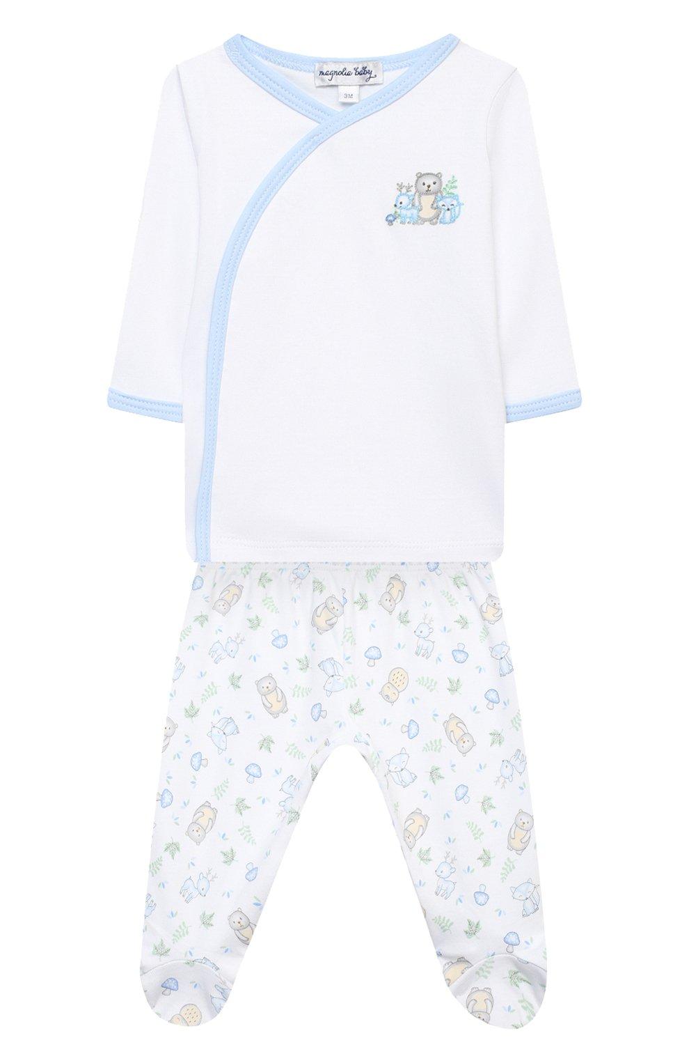 Детский комплект из распашонки и ползунков MAGNOLIA BABY голубого цвета, арт. 562-735P-LB | Фото 1