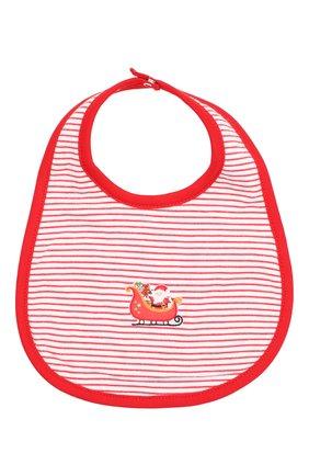 Детский хлопковый нагрудник MAGNOLIA BABY красного цвета, арт. 969-51-RD | Фото 1