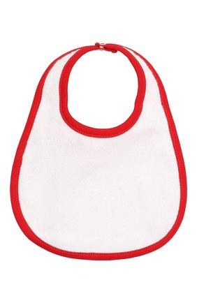 Детский хлопковый нагрудник MAGNOLIA BABY красного цвета, арт. 969-51-RD | Фото 2