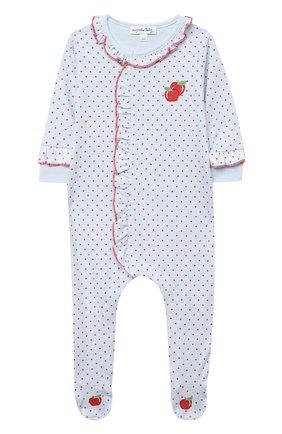 Детский хлопковый комбинезон MAGNOLIA BABY красного цвета, арт. 774-440-RD | Фото 1