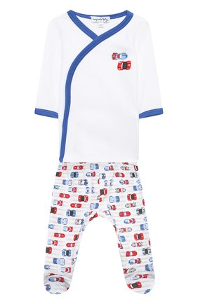 Детский комплект из распашонки и ползунков MAGNOLIA BABY голубого цвета, арт. 979-735P-LB | Фото 1