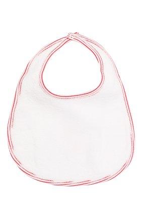 Детский хлопковый нагрудник MAGNOLIA BABY белого цвета, арт. 969-51B-WHRD   Фото 2 (Материал: Текстиль, Хлопок)