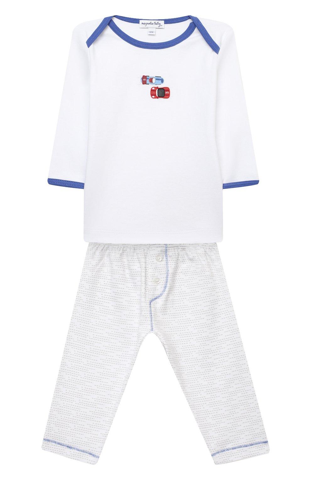 Детский хлопковая пижама MAGNOLIA BABY голубого цвета, арт. 979-770-LB | Фото 1