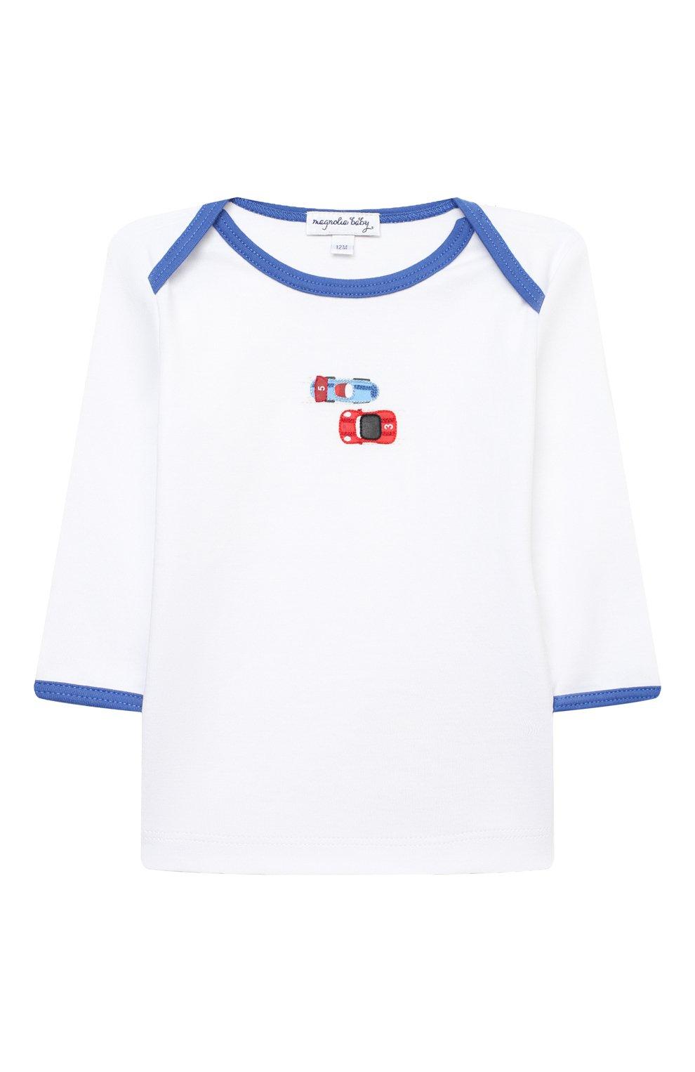 Детский хлопковая пижама MAGNOLIA BABY голубого цвета, арт. 979-770-LB | Фото 2