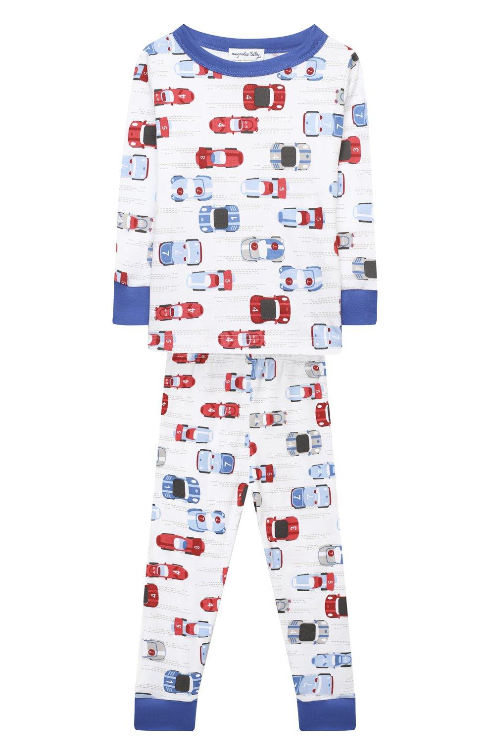 Детский хлопковая пижама MAGNOLIA BABY голубого цвета, арт. 979-LP-LB | Фото 1