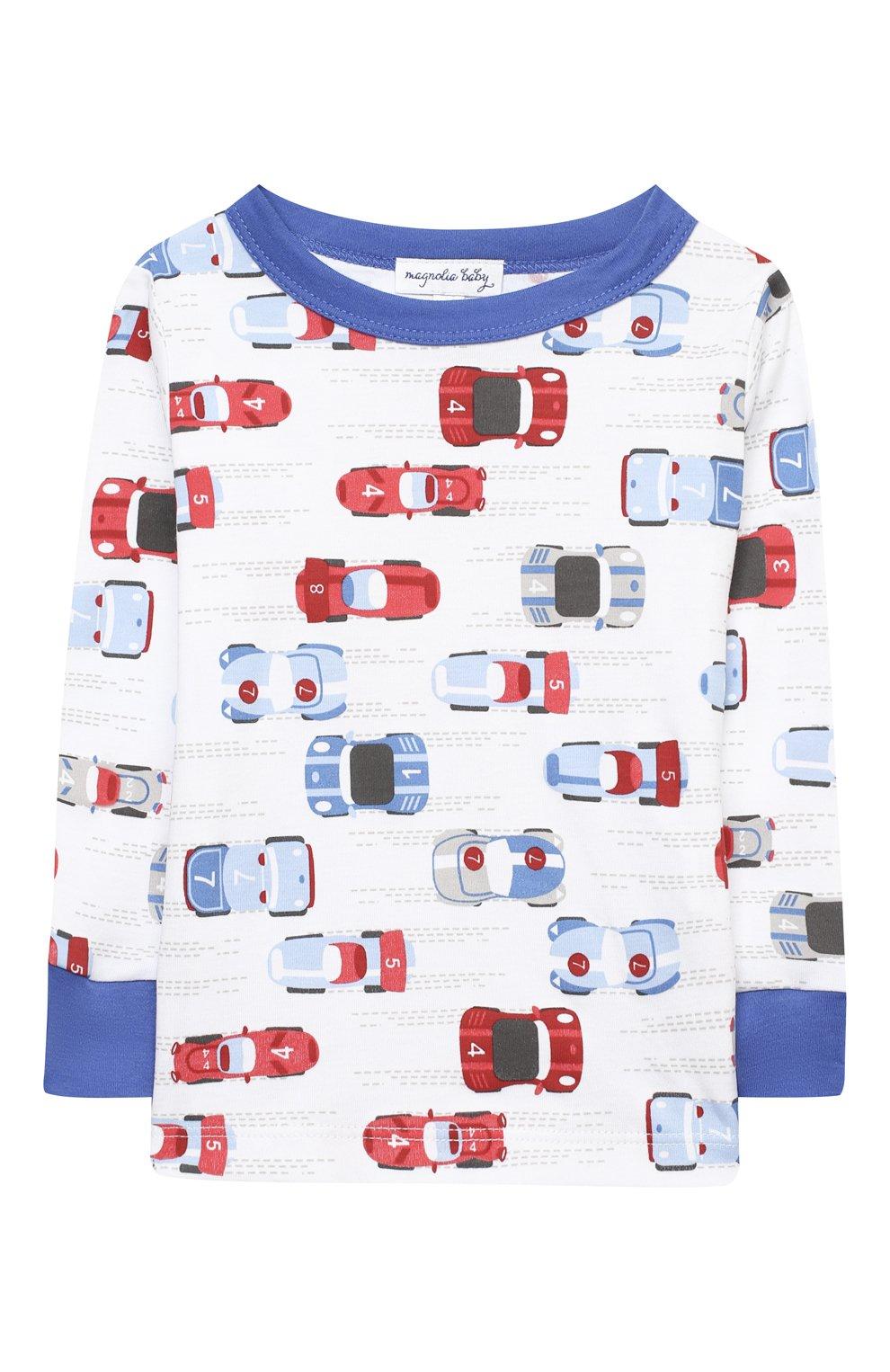 Детский хлопковая пижама MAGNOLIA BABY голубого цвета, арт. 979-LP-LB | Фото 2