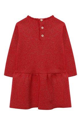 Женский платье TARTINE ET CHOCOLAT красного цвета, арт. TR30091/1M-1A | Фото 2 (Материал внешний: Хлопок, Синтетический материал; Рукава: Длинные; Ростовка одежда: 6 мес | 68 см, 9 мес | 74 см)