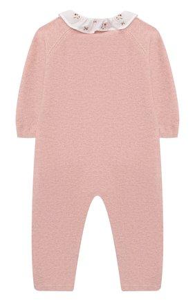 Детский хлопковый комбинезон TARTINE ET CHOCOLAT розового цвета, арт. TR32001/1M-1A | Фото 2