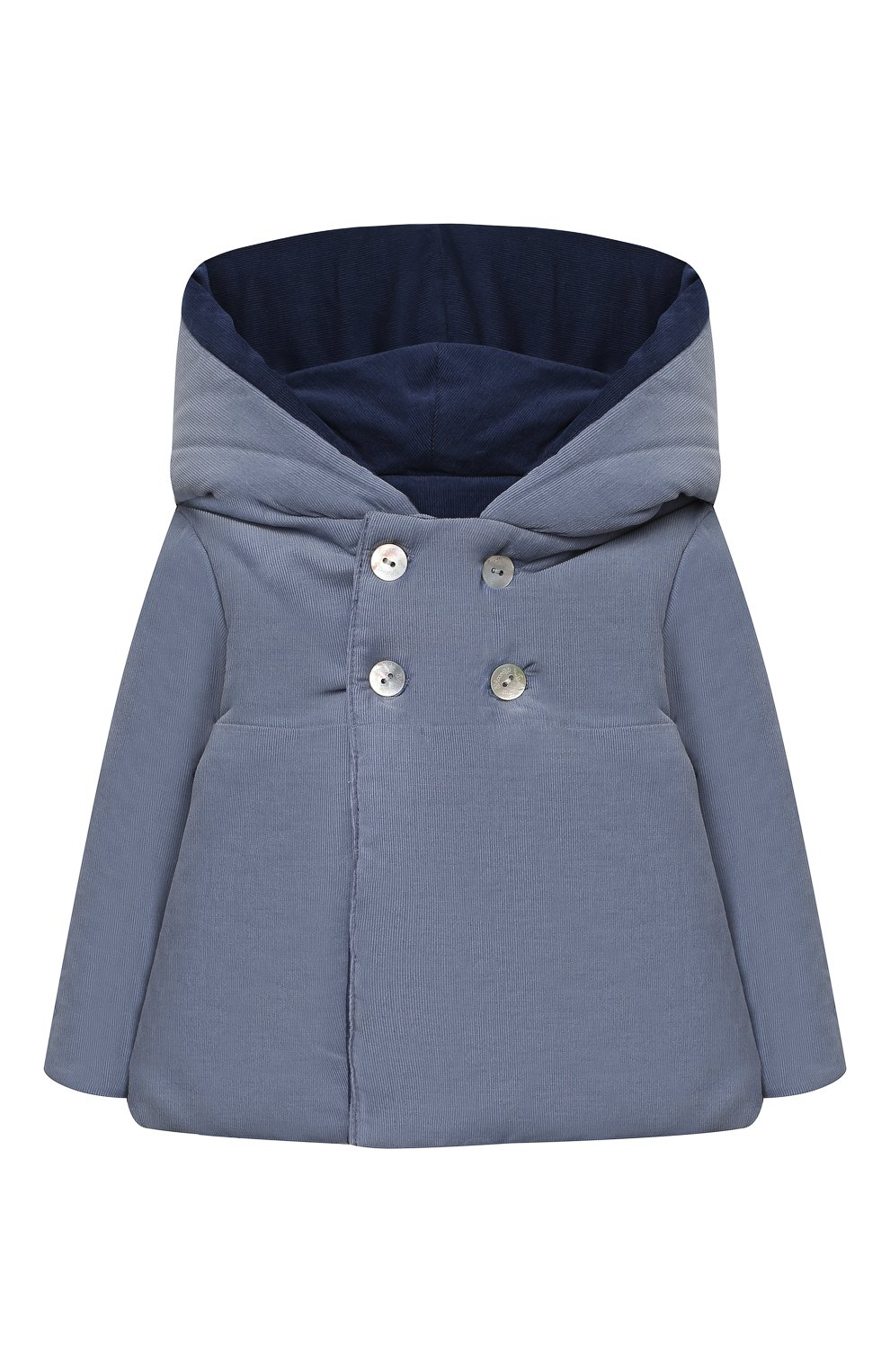 Детского хлопковая куртка TARTINE ET CHOCOLAT синего цвета, арт. TR44051/1M-1A   Фото 1