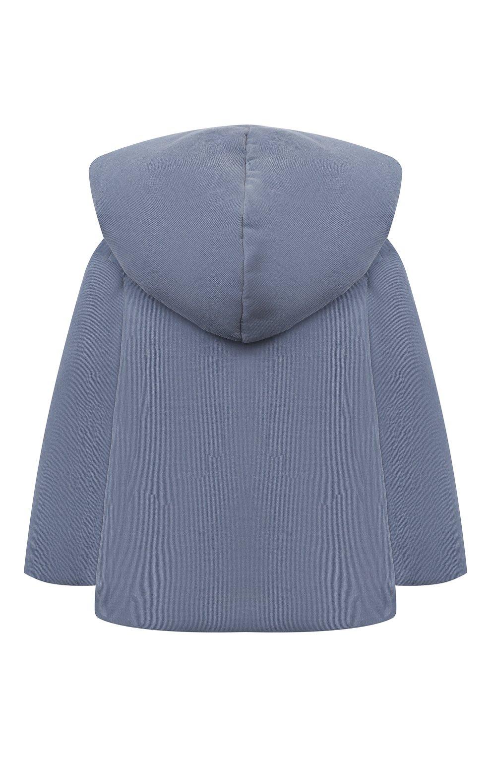 Детского хлопковая куртка TARTINE ET CHOCOLAT синего цвета, арт. TR44051/1M-1A   Фото 2