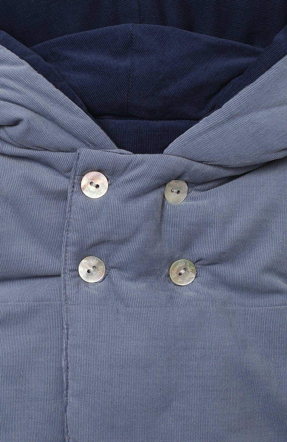 Детского хлопковая куртка TARTINE ET CHOCOLAT синего цвета, арт. TR44051/1M-1A   Фото 3