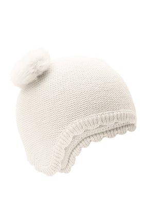 Детского хлопковая шапка TARTINE ET CHOCOLAT белого цвета, арт. TR90081 | Фото 1