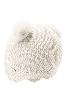 Детского хлопковая шапка TARTINE ET CHOCOLAT белого цвета, арт. TR90081 | Фото 2