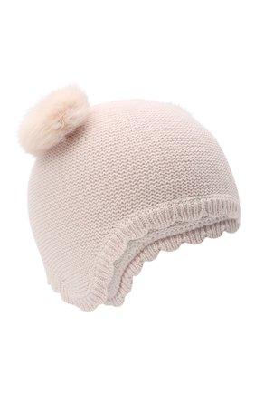 Детского хлопковая шапка TARTINE ET CHOCOLAT светло-розового цвета, арт. TR90081 | Фото 1