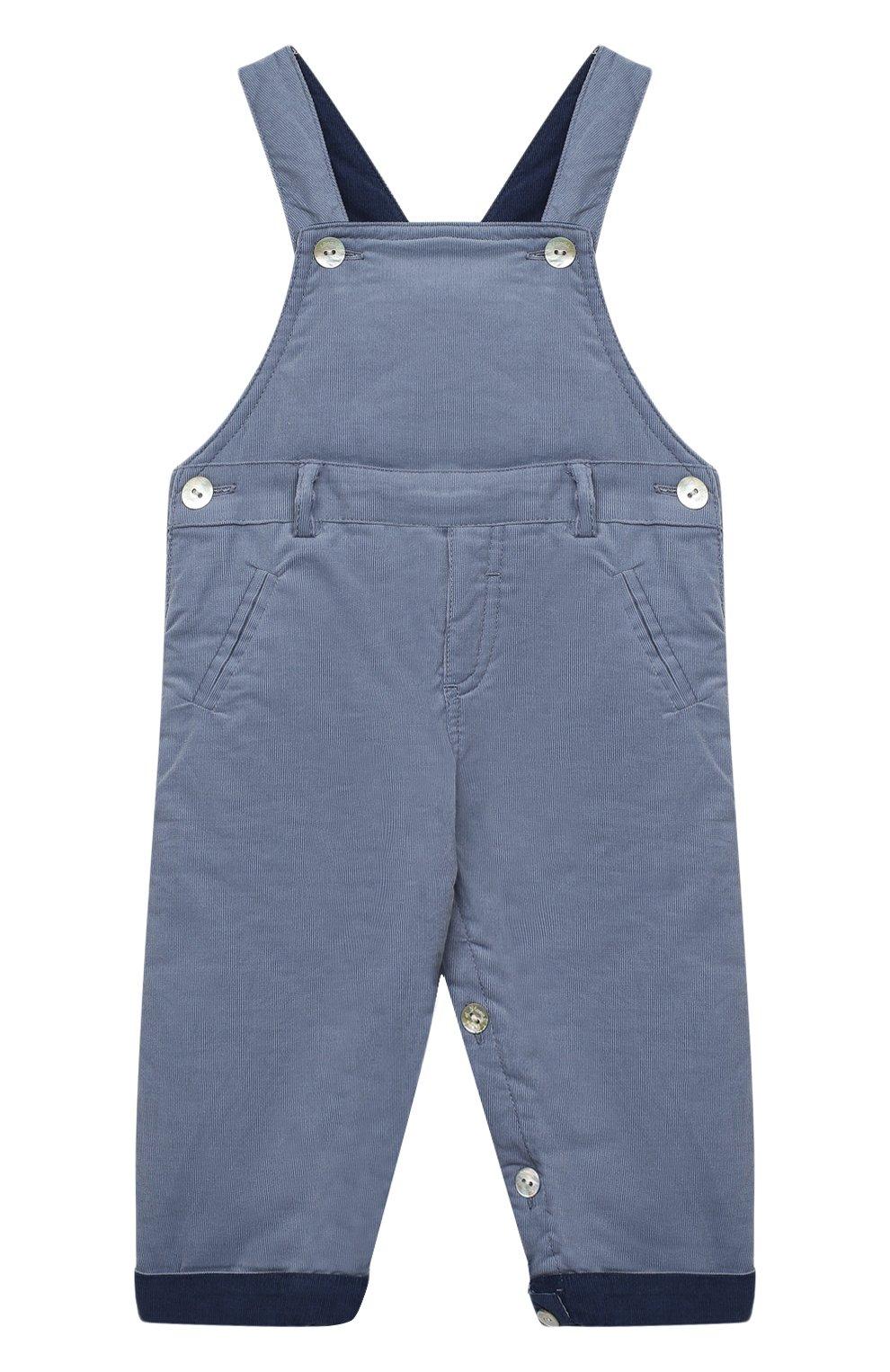 Детского хлопковый комбинезон TARTINE ET CHOCOLAT синего цвета, арт. TR20001/1M-1A | Фото 1