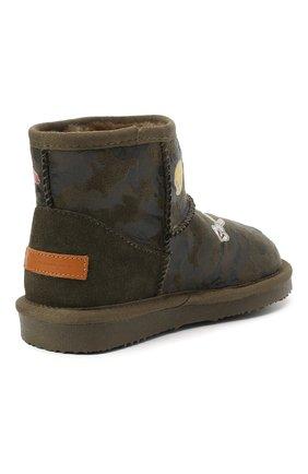 Детские ботинки с меховой отделкой MOA хаки цвета, арт. MDK550/24-31 | Фото 2