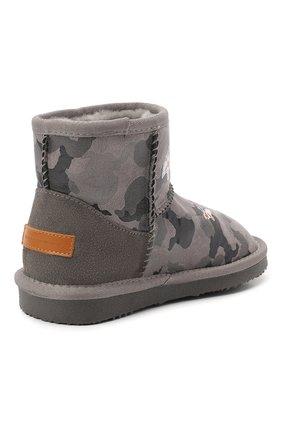 Детские ботинки с меховой отделкой MOA серого цвета, арт. MDK549/24-31 | Фото 2