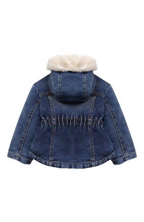 Детского джинсовая куртка MONNALISA синего цвета, арт. 396107RC | Фото 2