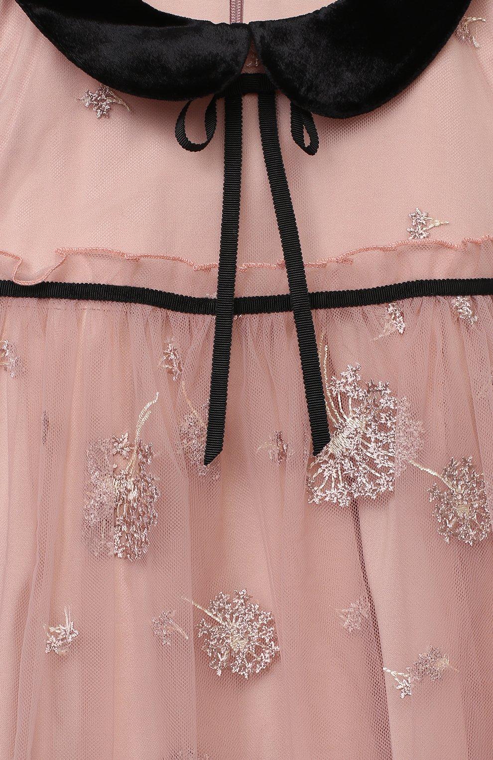 Детское платье ZHANNA & ANNA розового цвета, арт. ZAP0110820 | Фото 3 (Случай: Вечерний; Рукава: Короткие; Девочки Кросс-КТ: Платье-одежда)