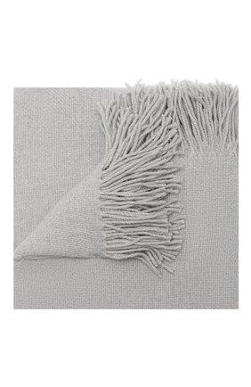 Шерстяной плед FRETTE серого цвета, арт. F06291 F0400 130D | Фото 1