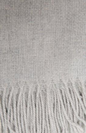 Шерстяной плед FRETTE серого цвета, арт. F06291 F0400 130D | Фото 2