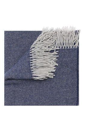 Шерстяной плед FRETTE синего цвета, арт. F06291 F0400 130D | Фото 1