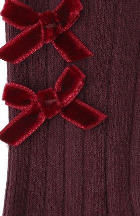 Детские колготки COLLEGIEN бордового цвета, арт. 5991 | Фото 2