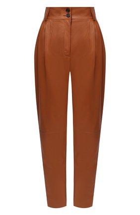 Женские кожаные брюки DOLCE & GABBANA коричневого цвета, арт. FTBYDL/HULFY | Фото 1