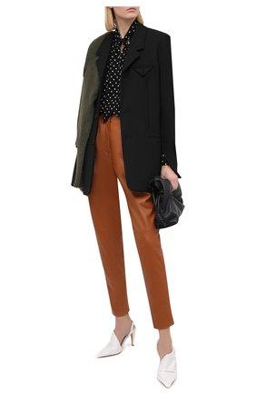 Женские кожаные брюки DOLCE & GABBANA коричневого цвета, арт. FTBYDL/HULFY | Фото 2