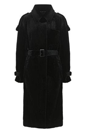 Женское шуба из меха норка KUSSENKOVV черного цвета, арт. 701520002552 | Фото 1