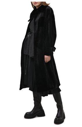 Женское шуба из меха норка KUSSENKOVV черного цвета, арт. 701520002552 | Фото 2