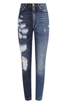 Женские джинсы DOLCE & GABBANA синего цвета, арт. FTBXHD/G8CU4 | Фото 1
